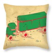 Tonka Truck Patent Throw Pillow