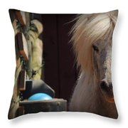 Tonkas Bad Hair Day Throw Pillow