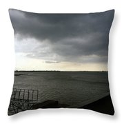 Tonle Sap River Phnom Penh Throw Pillow