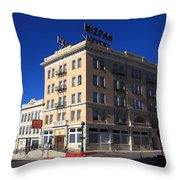 Tonopah Nevada - Mizpah Hotel Throw Pillow