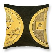 Tonto Apache Tribe Code Talkers Bronze Medal Art Throw Pillow