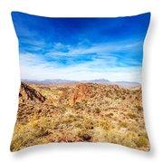 Tonto National Forest Apache Trail Throw Pillow