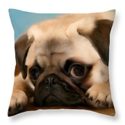 Too Cute Throw Pillow