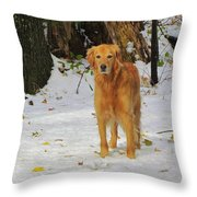 Too Early For Snow Mama Throw Pillow