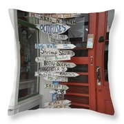 Too Many Choices Throw Pillow