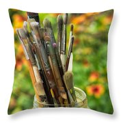 Tools Of The Painter Throw Pillow