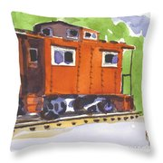 Toot Toot Throw Pillow by Kip DeVore
