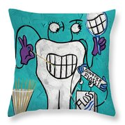 Tooth Pick Dental Art By Anthony Falbo Throw Pillow