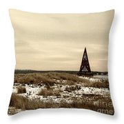 Toothpick In Sepia Throw Pillow