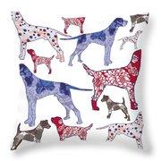 Top Dogs Throw Pillow