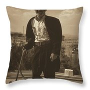 Top Hat And Tails Monochrome Throw Pillow