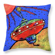 Top In Space Throw Pillow by Dale Moses