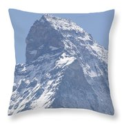 Top Of A Snow-capped Mountain Throw Pillow