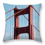 Top Of Golden Gate Bridge Throw Pillow