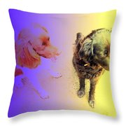 To See It All On Top Of The Dogs Throw Pillow