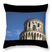 Top Of The Leaning Tower Of Pisa Throw Pillow