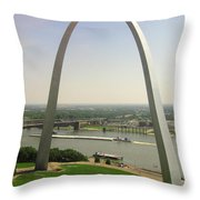 Top Of The Riverfront Throw Pillow