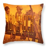Top Of The Rock Observation Deck Throw Pillow