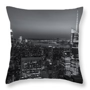 Top Of The Rock Twilight V Throw Pillow