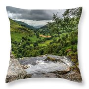 Top Of The Waterfall Throw Pillow