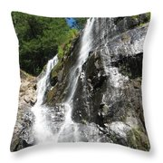 Top Part Of Silver Falls Throw Pillow