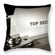 Top Secret Document In Armored Briefcase Throw Pillow