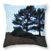 Top The Red Rocks Throw Pillow
