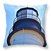 Top View Of Portland Head Light Throw Pillow