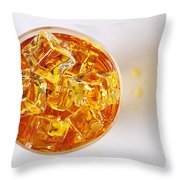 Top View On Drink Throw Pillow