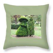 Topiary Couple Throw Pillow