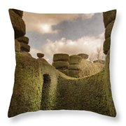 Topiary Maze In A Formal Garden Throw Pillow
