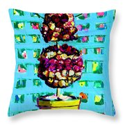 Topiary Of Dried Roses Throw Pillow