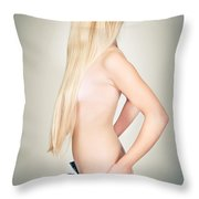 Topless Beauty Throw Pillow