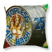 Topless Throw Pillow