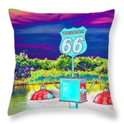 Topock The Mother Road Throw Pillow