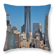 Topping Out Throw Pillow