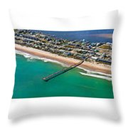 Topsail Island Aerial Panels Throw Pillow