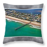 Topsail Island Aerial Panels II Throw Pillow