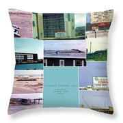 Topsail Island Images From The Past Throw Pillow