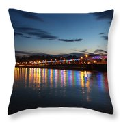 Torbay Nights Throw Pillow