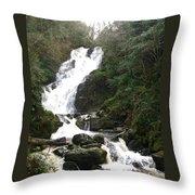 Torc Falls Ireland Throw Pillow
