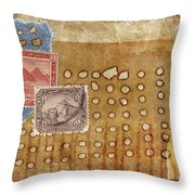Torn And Burned Throw Pillow by Carol Leigh