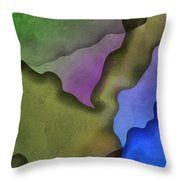 Torn Love Letters Throw Pillow
