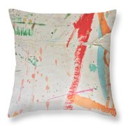 Torn To Red Line  Throw Pillow