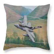 Tornado Gr4 - Shiny Two Flying Low Throw Pillow