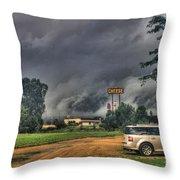 Tornado Over Madison 3 Throw Pillow