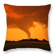 Tornado Sunset Throw Pillow