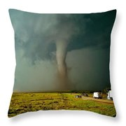 Tornado Truck Stop II Throw Pillow