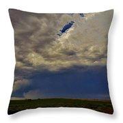 Tornado Warned Denver Supercell Throw Pillow