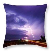 Tornado Warning In Northern Buffalo County Throw Pillow